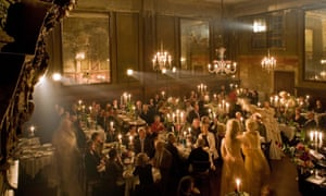 A candlelit party at the Ballhaus in Mitte.