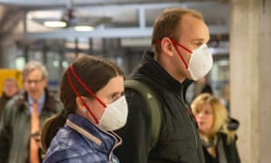 London Underground passengers wearing masks