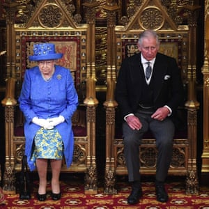 Unasked-for fame … The Queen and Prince of Wales at the House of Lords last year.