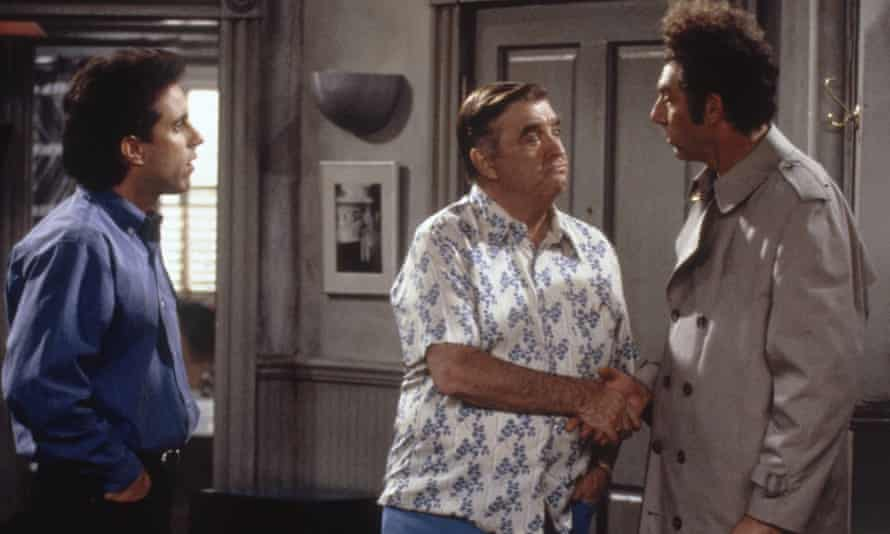 Seinfeld as Jerry, Barney Martin as Morty and Richards as Kramer.