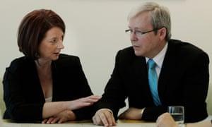 Julia Gillard and Kevin Rudd