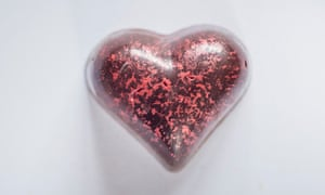 Food of love: the chocolate heart specially created by Paul A Young.