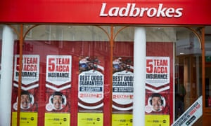 Ladbrokes have suffered a fall in shares today along with other bookmakers after the racing shutdown.