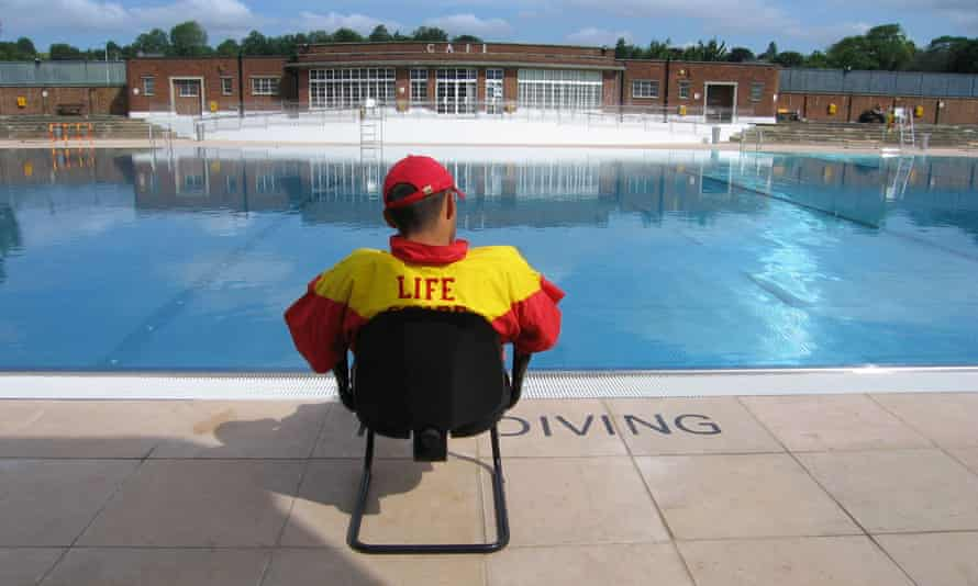 The Parliament Hill lido in Hampstead Heath, London. Lidos can reopen in England on Saturday.