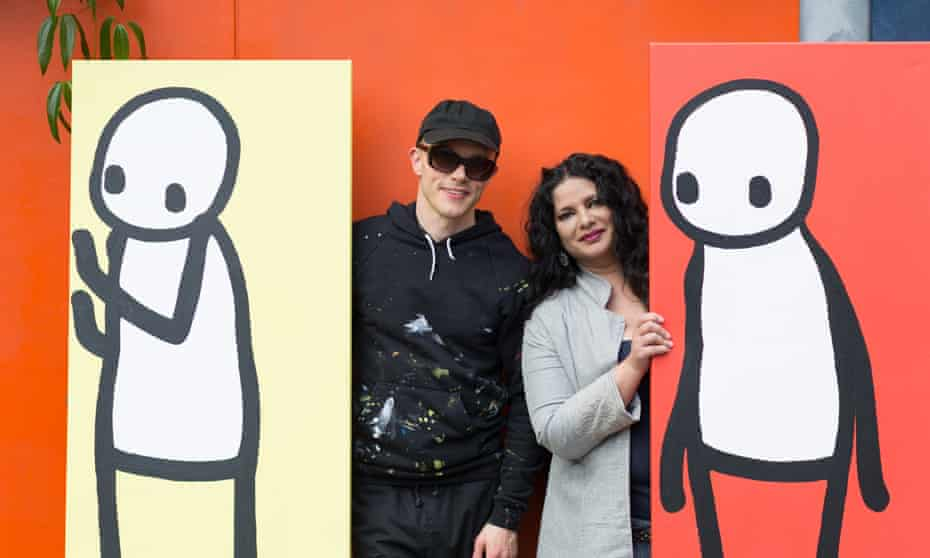 'People fear if they organise too much they are going to lose the creative magic' ... Sheila Chandra with Stik.