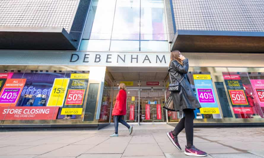 The flagship branch of department store chain Debenhams on Oxford Street in London.