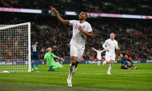 Wilson celebrates his debut goal.