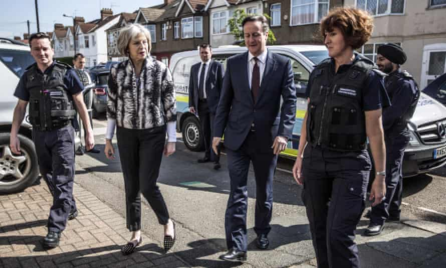 David Cameron and Home secretary Theresa May