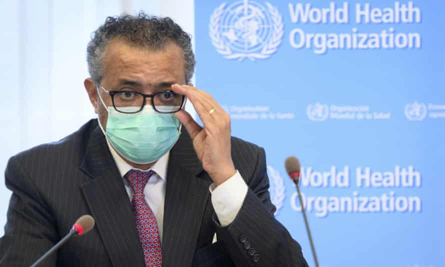 Tedros Adhanom Ghebreyesus said he is asking China to be more transparent as scientists search for the origins of the coronavirus and acknowledged it was premature to rule out that the pandemic may have been linked to a laboratory leak