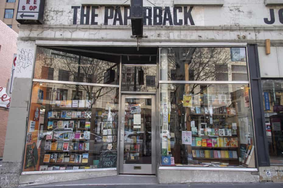 The Paperback Bookstore was closed during Melbourne's lockdown.