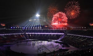 Fireworks at the opening ceremony.
