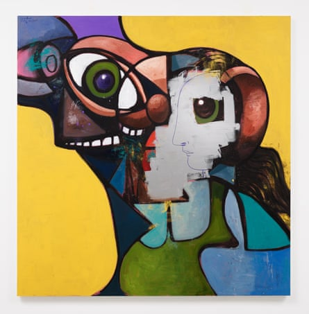 George Condo - Father and Daughter with Face Mask
