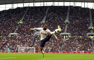 Danny Rose athletically controls the ball during Tottenham Hotspur's 1-1 draw with Watford.