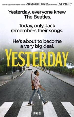 The poster for Yesterday, which imagines a world without the Beatles.