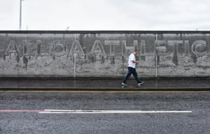 Losing 4-0 in the rain is not how the season should begin. A Peterhead fan leaves Alloa's Recreation Park for the long journey home.