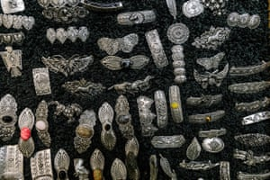 Various silver items for sale at the 35th National Cowboy Poetry Gathering in Elko, Nev. on February 2, 2019.