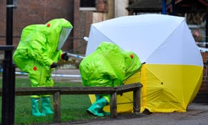 Emergency workers in Salisbury after the Sergei Skripal poisoning