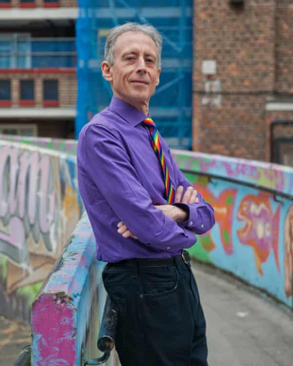 Peter Tatchell at the Rockingham Estate in Elephant & Castle where he lives