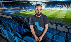 Sheffield Wednesday fan Daniel Gordon at Hillsborough. He was producer and director of a documentary on the tragedy at the stadium aired in earlier this year.