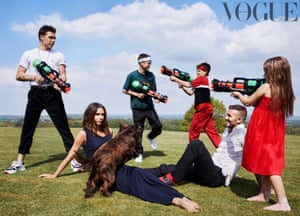 Vogue's cover shot with the Beckhams
