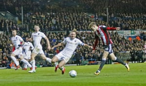 Brooks scores Sheffield's second.