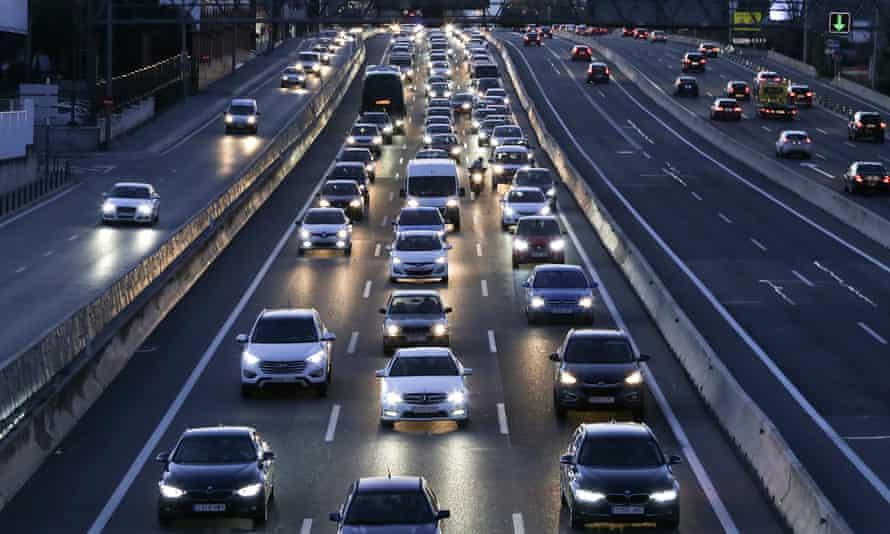 Cars drive on a motorway towards Madrid, Spain December 28, 2016