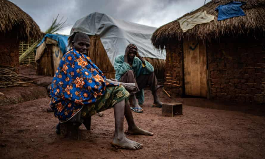 Dina and her husband, Michel, in Rho camp for internally displaced people, Ituri province, DRC.