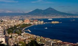 The Bay of Naples, Vesuvius in background