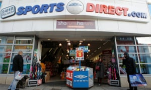 A branch of Sports Direct in Brighton. The company's profit warning came after a Guardian investigation into the retailer's treatment of its staff.