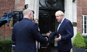 Boris Johnson at Stormont House, Belfast on Wednesday.