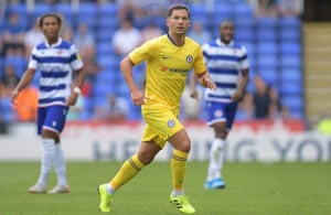 The rare sight of Danny Drinkwater in a Chelsea shirt against Reading in pre-season.
