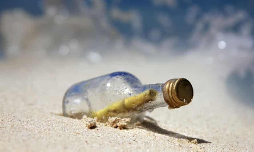 The glass bottle was found in June and arrived back at the Choshi high school in Japan in September.