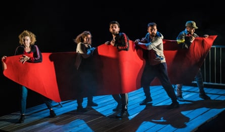 Ajjaz Awad, Esme Bayley, Daniel Cahill, Reuben Joseph and Dritan Kastrati in How  Not to Drown.