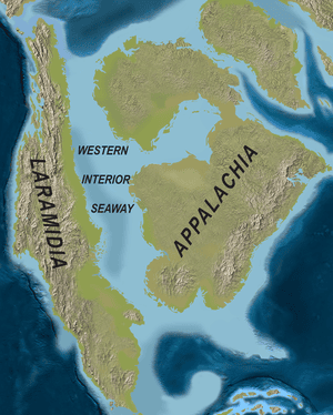 North America in the Late Cretaceous.