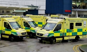 Ambulances in Wales. Cardiff resident Sue Martin said her husband was taken to hospital on 29 March.