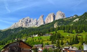 Col Rodella in the Dolomites above Canazei.