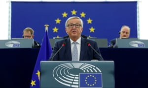 European Commission president Jean-Claude Juncker was upbeat about the eurozone during his state-of-the-union address.
