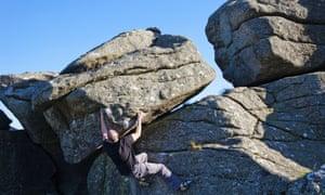 bouldering Dorset