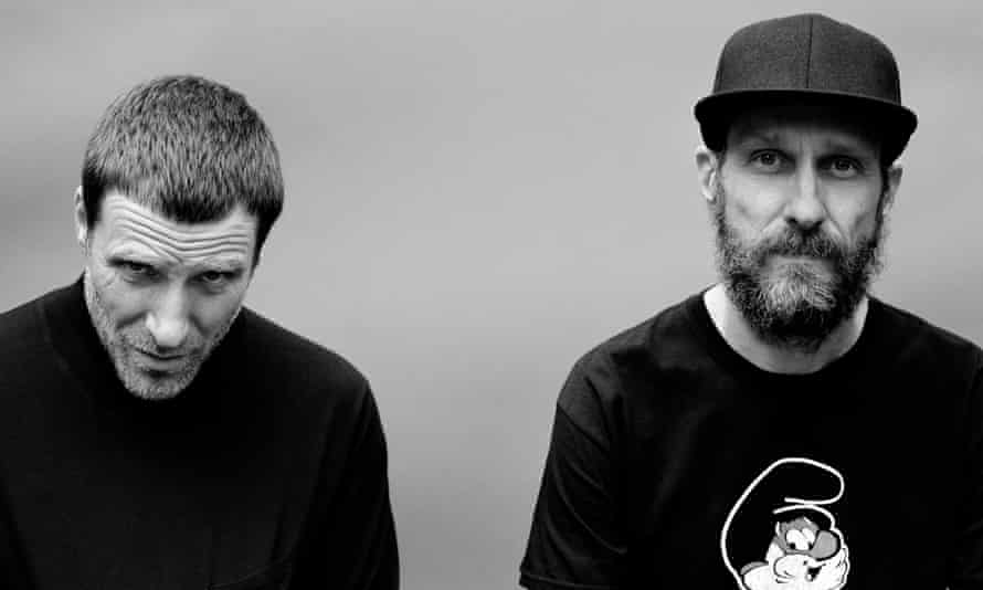 Sleaford Mods' Jason Williamson and Andrew Fearn.