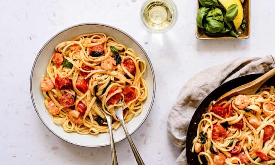 Prawn pasta