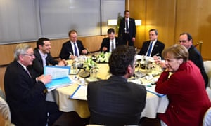 The special roundtable meeting on the Greece Financial crisis in Brussels tonight.