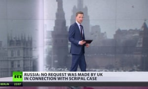 A still from RT's coverage of the Salisbury poisoning story