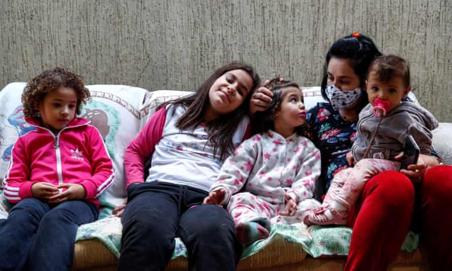 Sisters from Sao Paulo state, Brazil who have lost their mother, father and grandfather to Covid-19.