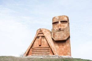 Monument to Independence in Stepanakert, Nagorno-Karabakh