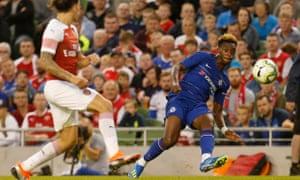 Callum Hudson-Odoi was impressive for Chelsea in the game against Arsenal at the Aviva Stadium in Dublin.