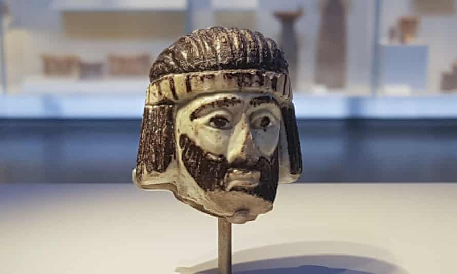 The biblical-era figurine of a king's head has been put on display at the Israel Museum.
