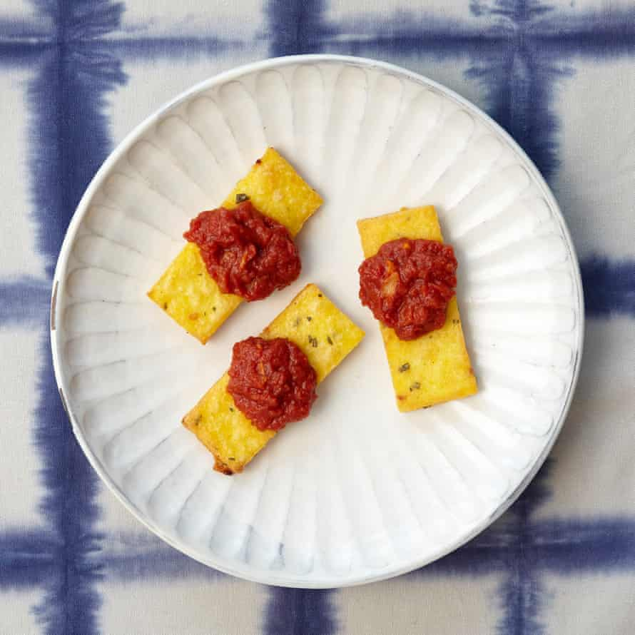 Hugh Fearnley-Whittingstall's rosemary polenta with tomato sauce