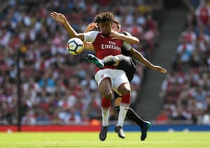 West Ham United's Declan Rice wrap his foot around Arsenal's Alex Iwobi as The Gunners win 4-1 at the Emirates Stadium.