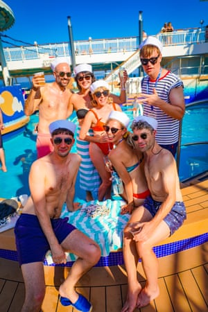 Festivalgoers lap up the atmosphere on the Norwegian Pearl.
