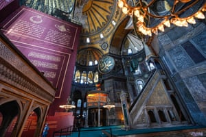 The Unesco-listed building was completed in AD537 by the Byzantine emperor Justinian.